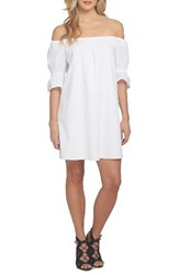 1.State Women's Off The Shoulder Shift Dress Ultra White