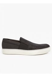 Lanvin Men's Black Iridescent Slip On Sneakers