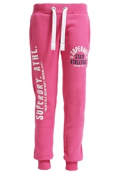 Superdry Tracksuit Bottoms Paradise Pink Marl