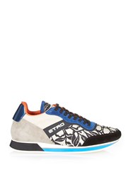 Etro Jacquard And Suede Low Top Trainers