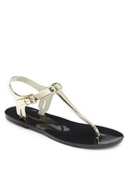 Saks Fifth Avenue Bree Metallic Jelly Sandals Gold
