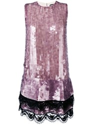 Tom Ford Sequined Shift Dress Pink Purple