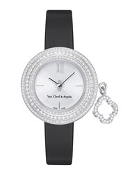 Charms White Gold Mini Watch 25Mm Van Cleef And Arpels Ivory