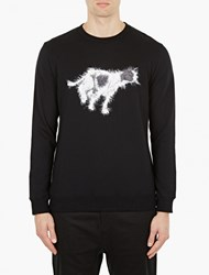 White Mountaineering Black Dog Motif Cotton Sweatshirt