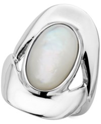 Nambe Mother Of Pearl Statement Ring In Sterling Silver Only At Macy's