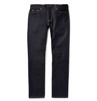 Jean Shop Mick Slim Fit Raw Selvedge Denim Jeans Blue
