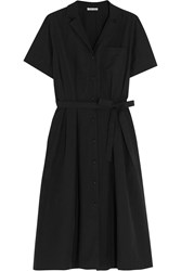 Tomas Maier Belted Cotton Poplin Shirt Dress