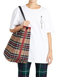 Burberry Runway Ss18 Reversible Check Tote Bag