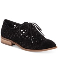 Jessica Simpson Dalasia Lattice Cutout Oxfords Women's Shoes Black