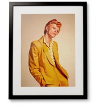 Sonic Editions Framed David Bowie Print 17 X 21 Black