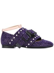 N 21 No21 Studded Fringed Loafers Pink Purple