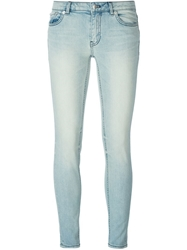 Blk Dnm Stone Washed Skinny Jeans Blue
