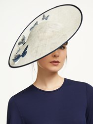 Bundle Maclaren Millinery Storm Butterfly Disc Occasion Hat Ivory Blue