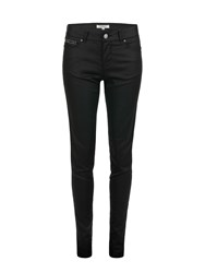 Morgan Coated Slim Fit Jeans Black