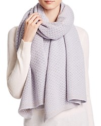 Bloomingdale's C By Cashmere Honeycomb Knit Scarf Dusk Oatmeal