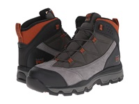 Timberland Rockscape Mid Steel Safety Toe Grey Suede Orange Pops Men's Lace Up Boots Black