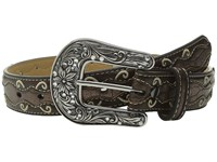 Ariat Cross Concho Belt Little Kids Bigs Kids Brown Women's Belts