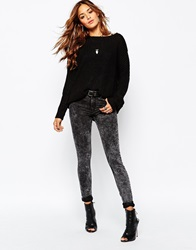 Noisy May Extreme Lucy Skinny With Bleach Wash Black