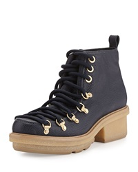 Mallory Short Lace Up Boot Navy 3.1 Phillip Lim