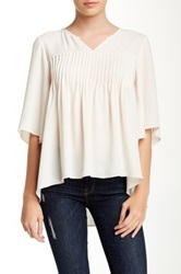 Zoa Angel Sleeve Blouse Beige