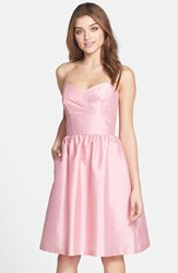 Women's Alfred Sung Strapless Satin Fit And Flare Dress