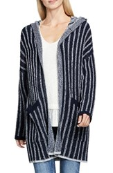 Vince Camuto Women's Two By Hooded Cardigan Blue Night