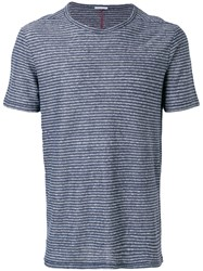 Homecore Striped Fitted T Shirt Blue