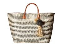 Hat Attack Provence Tote Grey Stripe Tote Handbags Multi