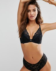 Gossard Gypsy High Apex Lace Plunge Bra Black