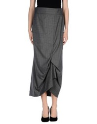 Oblique Long Skirts Grey