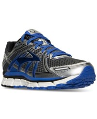 Brooks Men's Adrenaline 17 Running Sneakers From Finish Line Anthracite Electric Brook