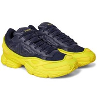 Raf Simons Adidas Originals Ozweego Mesh And Leather Sneakers Midnight Blue