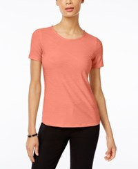 Jm Collection Jacquard T Shirt Only At Macy's Peach Zing
