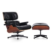 Vitra Lch Lounge Chair And Ottoman Cherry Black