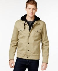 Hurley Hooded Trucker Jacket Khaki