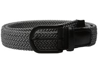 Torino Leather Co. 35Mm Italian Braided Melange Rayon Elastic Grey Men's Belts Gray