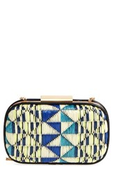 Natasha Couture Geo Woven Box Clutch