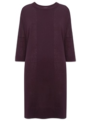 Whistles Gelsey Oversized Tunic Top Burgundy