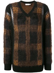 Coach Check Sweater Brown