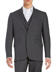 Kenneth Cole Reaction Two Button Jacket Grey
