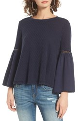 Sun And Shadow Women's Washed Cotton Bell Sleeve Top