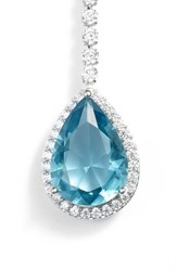Nina Teardrop Cubic Zirconia Y Shape Necklace