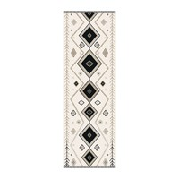 Hibernica Kathmandu Abstract Vinyl Floor Mat Black White Black And White