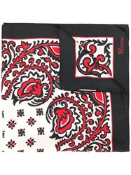 Red Valentino Patterned Square Scarf White