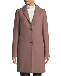 Cole Haan Double Face Wool Two Button Jacket Mauve