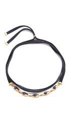 Lizzie Fortunato Day And Night Wrap Choker Necklace Gold Midnight