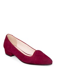 Patricia Green Harper Quilted Suede Pumps Claret
