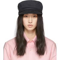 Maison Michel Black New Abby Cap