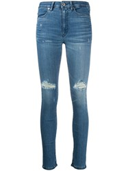 Dondup High Rise Skinny Jeans Blue