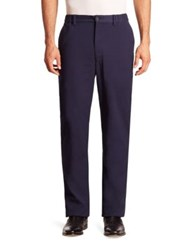 Issey Miyake Cotton Trousers Blue
